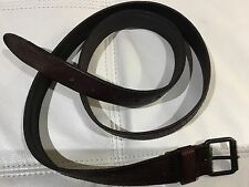 TRUE RELIGION MEN PERPORATED DARK BROWN LEATHER BELT MADE IN ITALY NWT 40 $138