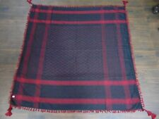 Cotton Arab Shemagh Kafiya Square Scarf,hot red & black color fashion womenscarf