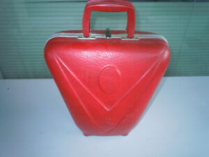 Vintage Red Clam Shell Bowling Ball Hard Case 1950s/1960s