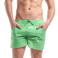 Men's Super Thin light Summer Male Translucent Solid Pocket Shorts Beachwear