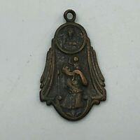 Antique I Am Catholic In Case Of Emergency Notify A Priest Medal Pendant Vtg Q4