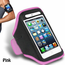 Pink iPhone 4 4S Sports Strong ArmBand Padded Soft Cover With Earphone Pocket