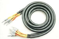 New MOGAMI 3104 bi-wiring pair rhodium banana plug speaker cable 2-4 1m