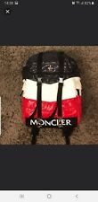 NEW AND RARE KITH X MONCLER NAVY/WHITE/RED BACKPACK FROM FALL/WINTER 2017