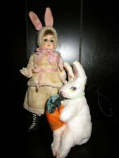 Antique bisque lot Easter Rabbit -Bunny/ cotton rabbit- Germany