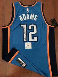 Steven Adams Autographed Signed Jersey Thunder UpRARE PSA/DNA Authenticated