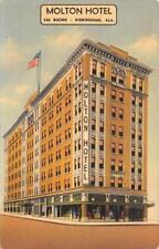 MOLTON HOTEL Birmingham, Alabama ca 1940s Vintage Linen Postcard