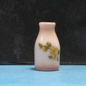 """Tiny Porcelain Dollhouse Vase Handcrafted 1:12 scale 3/4"""" H"""