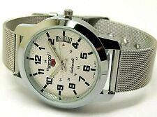 seiko 5 automatic men's steel silver dial day/date vintage japan watch run g