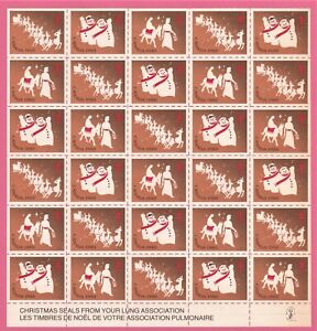 Canada - Christmas Seals 1980.  Sheet of 30.