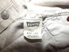 "LEVIS 501 REGULAR FIT JEANS W36"" L30"" BEIGE(ORIGINAL) 77"