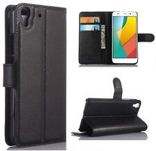 Huawei Ascend Y6 - Housse de protection Etui Folio à Clapet - Noir - Phonit