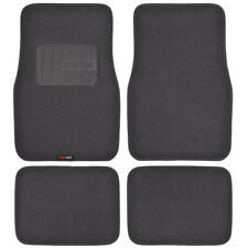 Heavy Duty Car Floor Mats Charcoal Rubber Backing 4 PC Motor Trend Brand