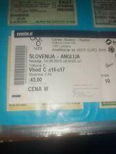 TICKET: slovenia   v   England 2015  match