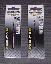 "2-ea 9/64"" Vulcan 132-3039 9/64"" High Speed Steel  Drill Bits"