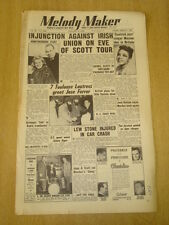 MELODY MAKER 1954 JANUARY 9 RONNIE SCOTT LEW STONE ROSEMARY CLOONEY JACK NATHAN