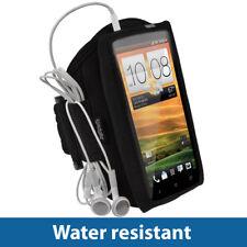 iGadgitz Black Water Resistant Neoprene Sports Gym Jogging Armband for HTC One X