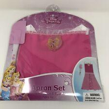 Disney Princess Pink Apron Set Includes Spatula 2pc Brand New Cute Ages 4+