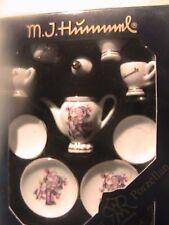 Vintage M J Hummel Miniature Dollhouse Tea Set Reutter Porzellan Germany Nib