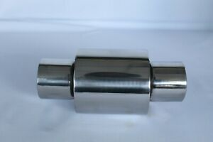 """Clamp -on Exhaust 6""""x 2.5"""" x 8"""" Silencer Back Box Resonator Stainless Universal"""