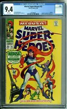 MARVEL SUPER-HEROES 15 CGC 9.4 WHITE PAGES MEDUSA SQUAREBOUND ISSUE NEW CGC CASE