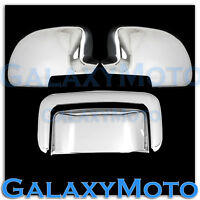 00-06 GMC Yukon+XL Triple Chrome plated ABS Full Mirror+Tailgate handle Cover