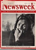 1944 Newsweek April 3-Japanese invade India;Hungary falls; Charlie Chaplin trial