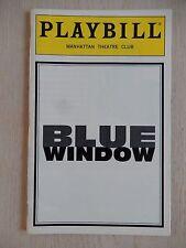 February 1966 - Manhattan Theatre Club Playbill - Blue Window - Johanna Day