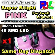 Led coche tiras De Luz Neon reposapiés 30cm Flexible (rosa) - Super Brillantes