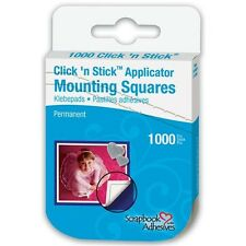 3L Click 'n Stick Permanent Mounting Squares 1000 Per Pack - 366752