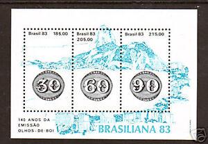 Brazil Sc 1874 MNH. 1983 Brasiliana '83 Souvenir Sheets, Wholesale Lot (10), VF