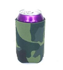 12 Blank Neoprene Beverage Insulators/Can Coolers-Green Camo