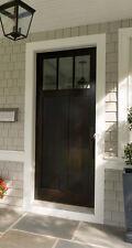 """3 LITE CRAFTSMAN KNOTTY ALDER ENTRY DOOR 36""""X80"""""""