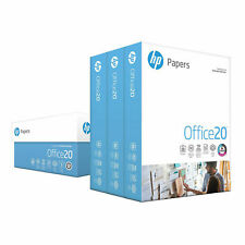HP Office Printer Ultra White Paper 8.5 x 11 Letter 1500 Sheets 3 Ream Carton