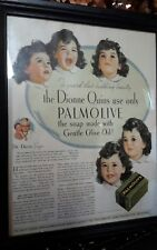 the Dionne Quints use only Palmolive the soap Framed