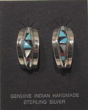 Native American Jewelry - Zuni - Earrings - Multi-stone - signed OE-CM ZUNI