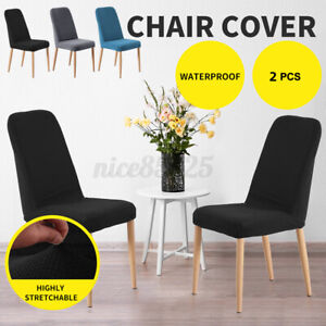 2PCS Stretch Spendex Dining Chair Cover Seat Protective Wedding Home Party Dec