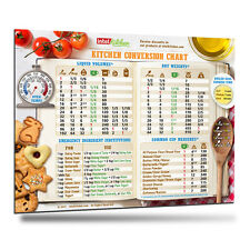 2017 Most Useful Kitchen Conversion Chart Magnet Cooking Baking Metric Measure