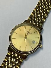 """Tissot Classic T870 / 970 Watch Gold Tone Stainless Steel, 7.75"""" 35mm"""