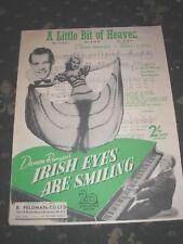 SPARTITI MUSICALI-UN PO'DI PARADISO da irish Eyes sorridono 6 pagine 1923