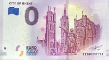 BILLET 0 EURO CITY OF GHENT BELGIQUE   2019-1  NUMERO DIVERS