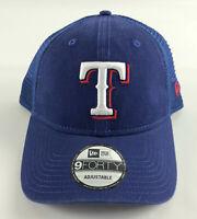 Texas Rangers Snapback Baseball Hat New Era 9Forty Blue Ajustable Mesh Trucker