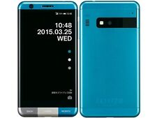 KYOCERA KYV33 INFOBAR A03 ANDROID 4K METAL PHONE UNLOCKED JAPAN BLUE NEW