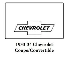 1933 1935 Chevrolet Coupe Trunk Rubber Floor Mat Cover with G-010 Chevy Bowtie