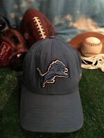 DETROIT LIONS HAT Cap Adjustable REEBOK BLUE H37