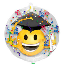 Graduation Balloon Clear Balloon w/ Emoticon inside Graduation Party Decorations