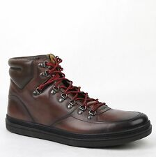 Gucci Men's Shaded Brown Leather Hi-top Sneakers Boots 13G/US 13.5 368496 2140