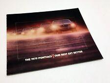1979 Pontiac Grand Prix Sunbird Firebird Bonneville Catalina Astre Brochure