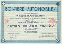 Boissiere Automobile SA, accion, 1926 (Siege: Paris)