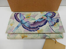 ANUSCHKA WOMENS CHECK BOOK CLUTCH WALLET WINGS OF HOPE 1042-WHP